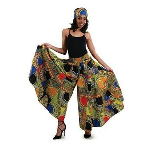 Pants - Traditional African Print Patchwork Palazzo
